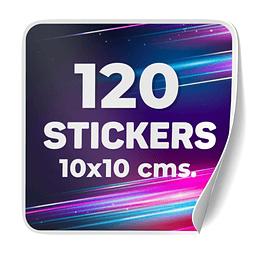 120 Stickers 10x10 cms