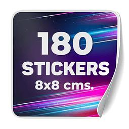 180 Stickers 8x8 cms