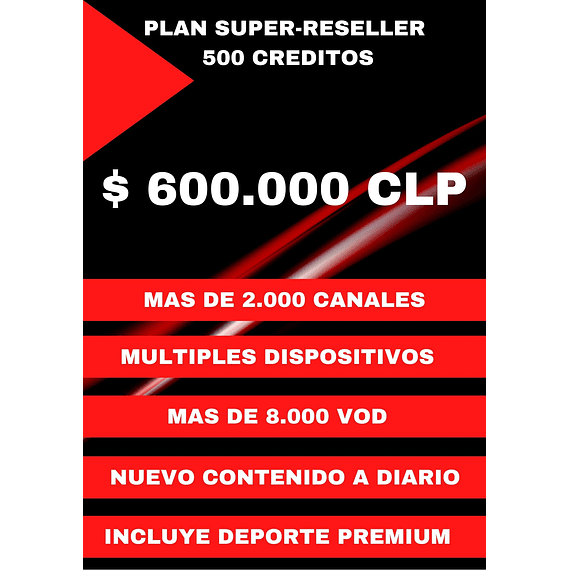 PLAN SUPER-RESELLER PRO FLASH 500 CREDITOS