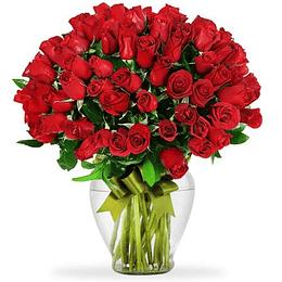Florero 100 Rosas