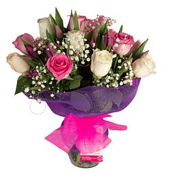 Florero Rosas y Tulipanes