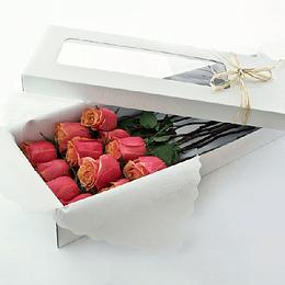 Caja Rustica 12 Rosas