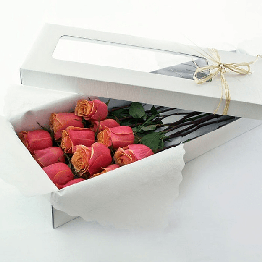 Caja Rústica 12 Rosas