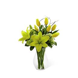 Florero Tulipanes y Liliums