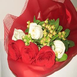 Ramo de 6 Rosas Bicolor
