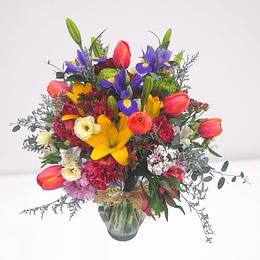 Florero con Flores Mixtas