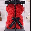 Teddy Rojo con Rosas Artificiales