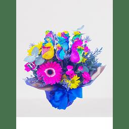 Maceta con Rosas Rainbow (Arcoíris)