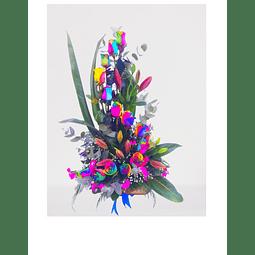Espiral Rosas Rainbow y Liliums