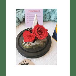 Cúpula con dos Rosas