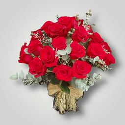 Florero con 30 Rosas Rojas