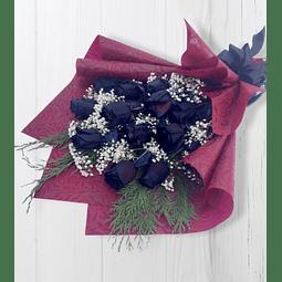 Ramo Tendido con 12 Rosas Negras