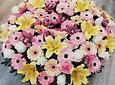 Coroa de Flores Campestre Cor-de-Rosa