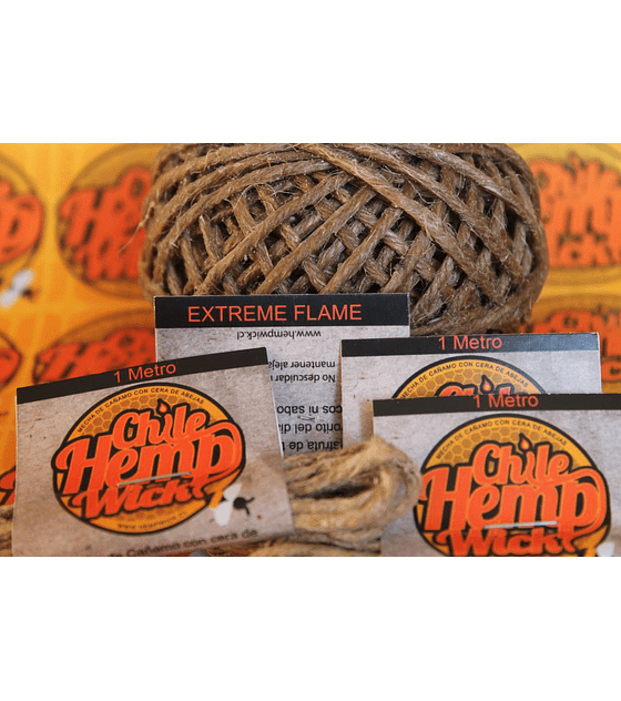 Chile Hemp Wick EXTREME FLAME 1 mt