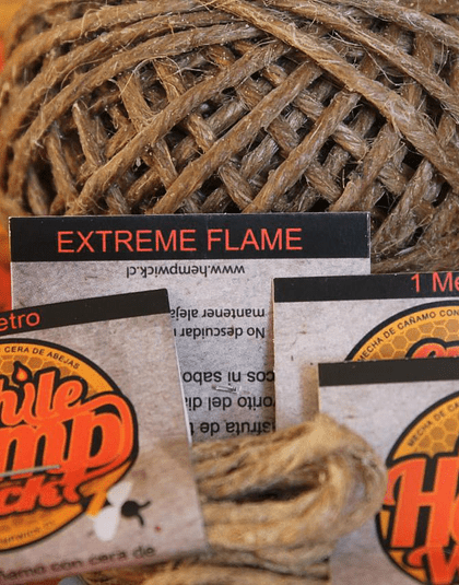 Ovillo Chile Hemp Wick EXTREME FLAME 36 mts