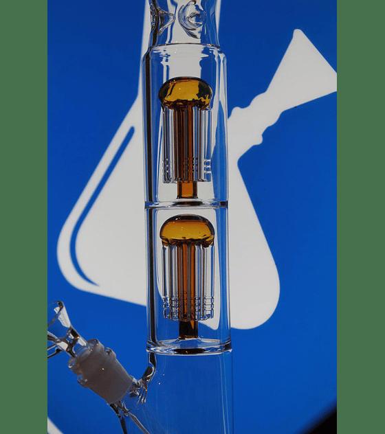 Bong de pyrex 44 cms, dos percoladores