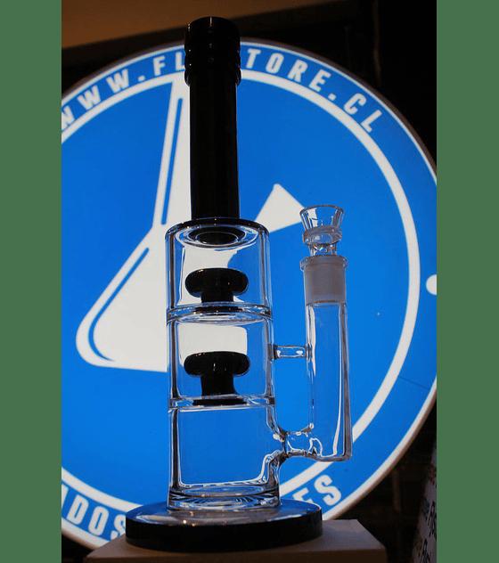 Bong de pyrex 33 cms, doble percolador shower