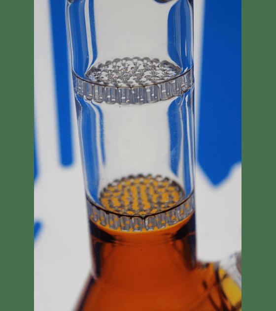 Bong de pyrex 27 cms, doble percolador honey comb