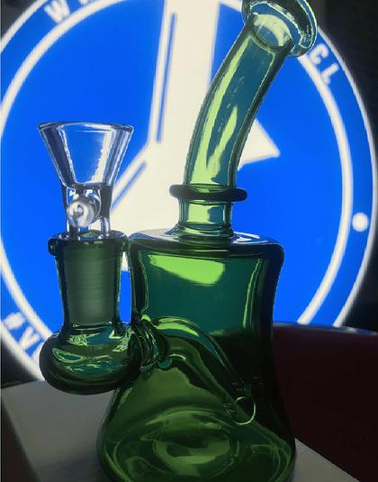 Bong Pyrex 15 cm Verde