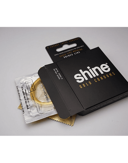 Shine 24k Gold Condoms
