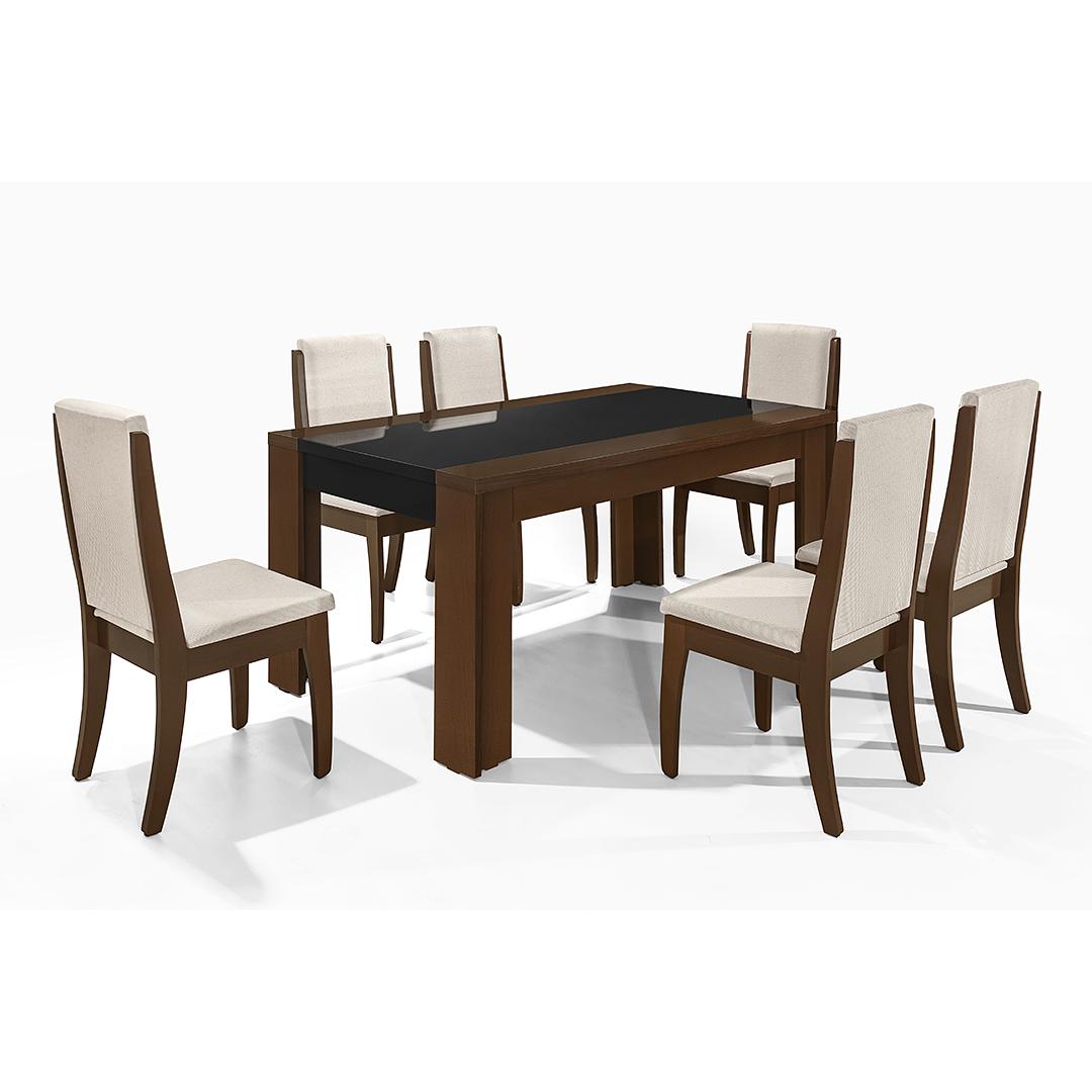 Comedor Lorenzi 6 sillas Castaño - Image 2