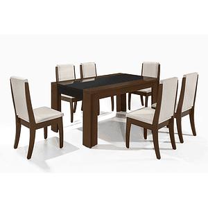 Comedor Lorenzi Castaño 6 sillas