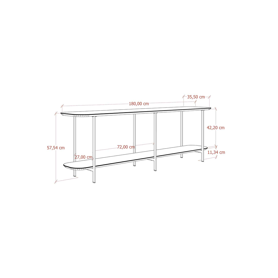 Sofá Table Iron Negro - Image 7