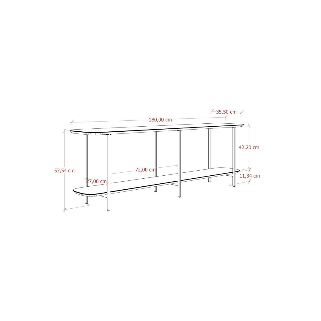 Sofá Table Iron Off White - Image 5