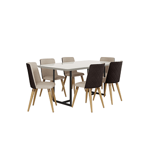 Comedor 1.8 Iron 6 sillas Dakota