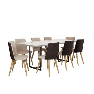 Comedor 2.2 Iron 8 sillas Dakota