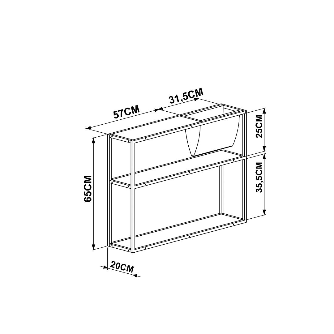 Mesa Lateral Steel Quadra 27852 - Image 3