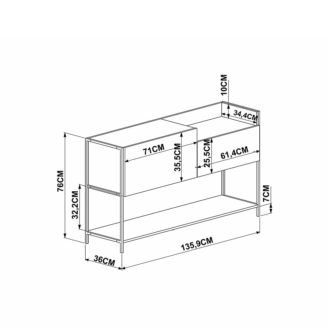 Buffet Steel Quadra 27851 - Image 4