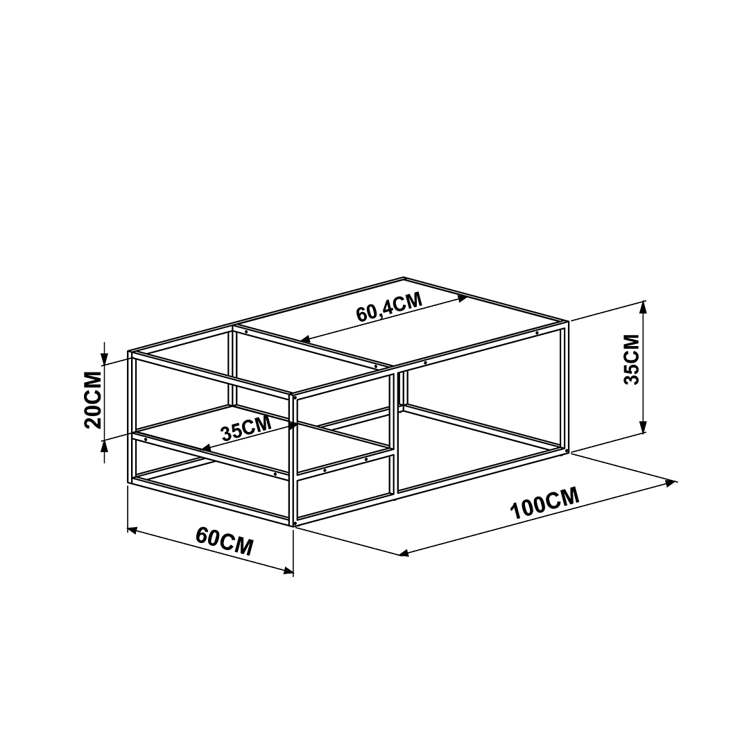 Mesa de Centro Steel Quadra 27854 - Image 3