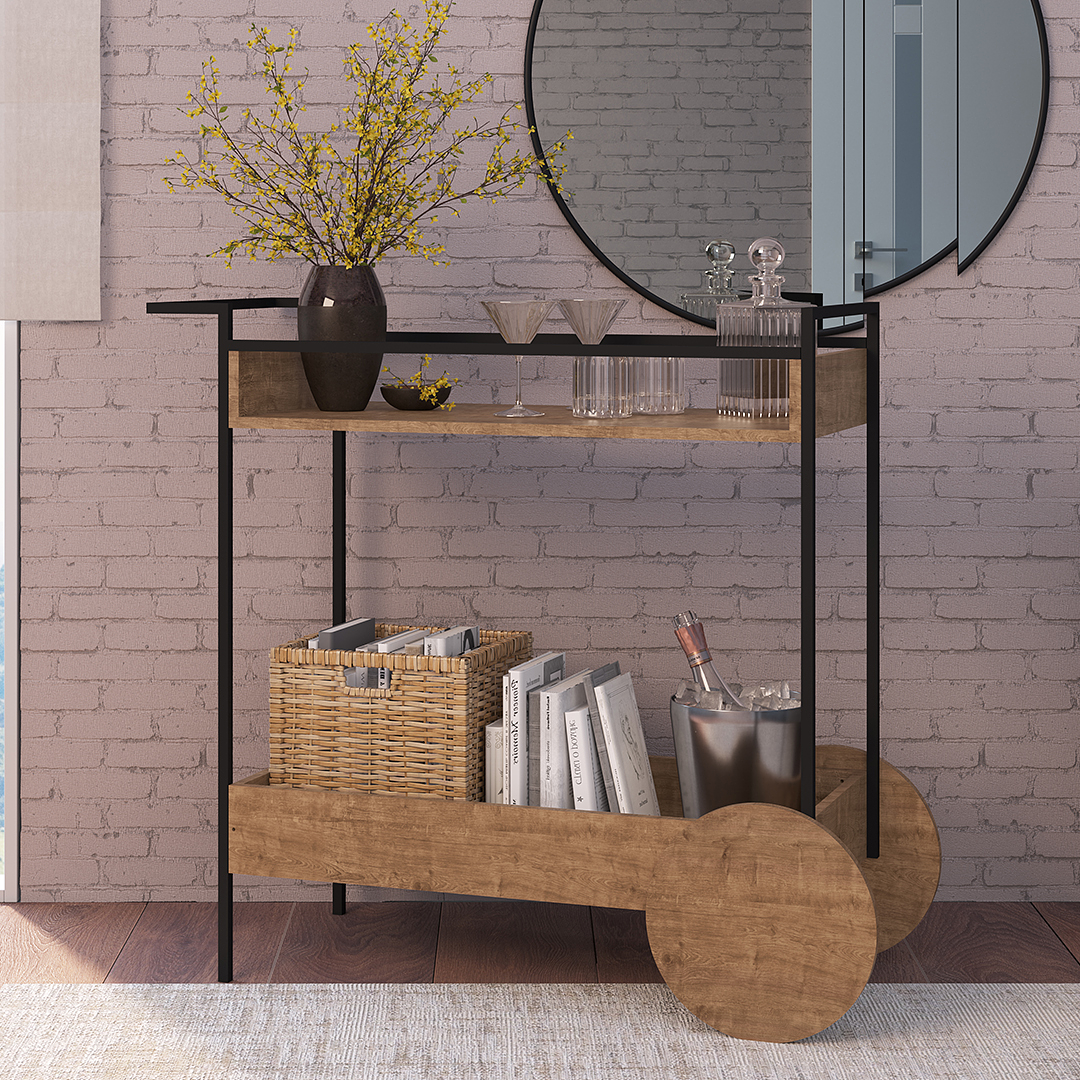 Bar Cart Steel Quadra 27853 - Image 1