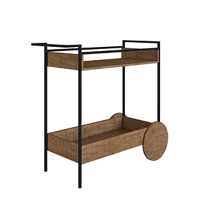 Bar Cart Steel Quadra 27853