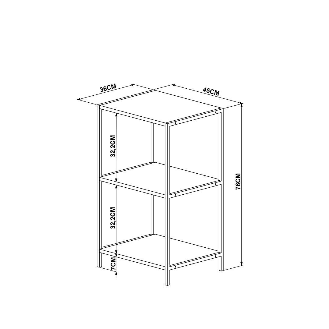 Librero Steel Quadra 27867 - Image 3