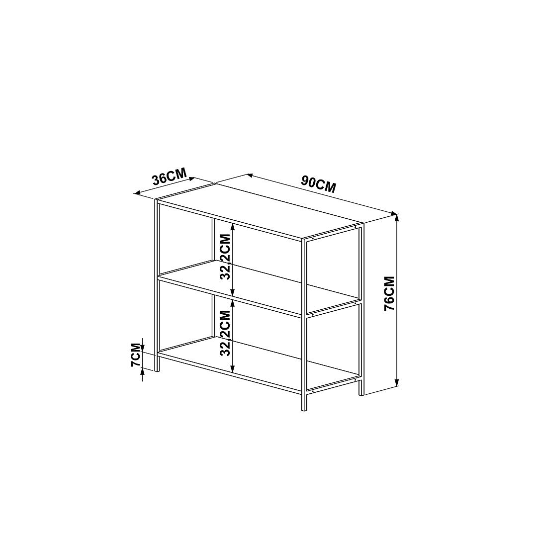 Librero Steel Quadra 27868 - Image 3