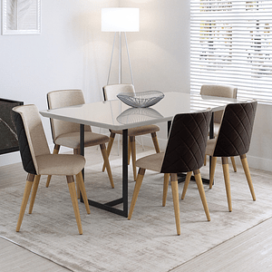 Comedor 1.8 Iron 6 sillas Dakota