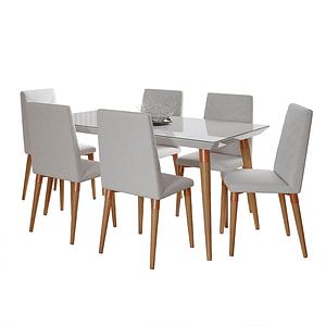 Comedor 1.6 LIV Blanco Brillo 6 sillas LIV Omega 02