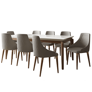 Comedor 2.1 Laurent 8 Sillas Evelyn