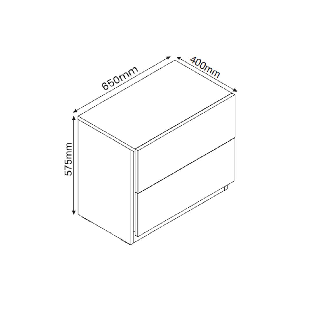 Set Respaldo + 2 Veladores + Cómoda Elevatto Led - Image 6