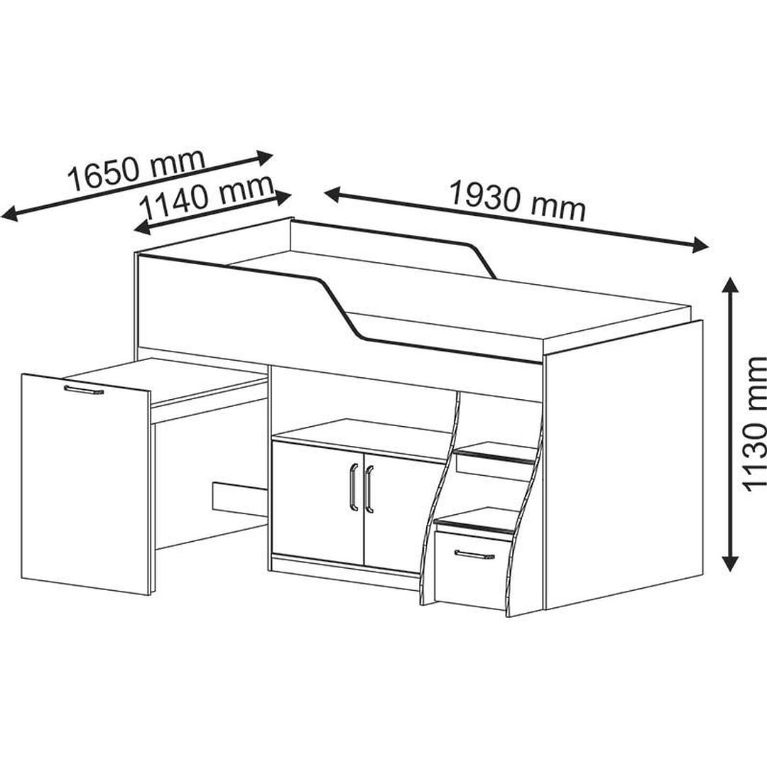 Cama Multifunción Retráctil Off White - Image 3