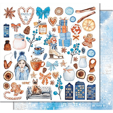 Papel scrapbook Cozy Winter - Lovely family