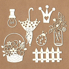 Set de chipboard - Princess Garden