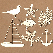 Set de chipboard - Sea Time