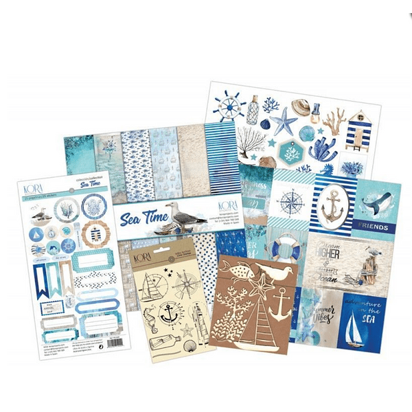 Kit Scrapbooking - Sea Time (inglés)