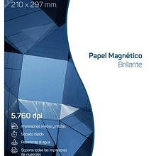 Papel magnetico glossy - A4