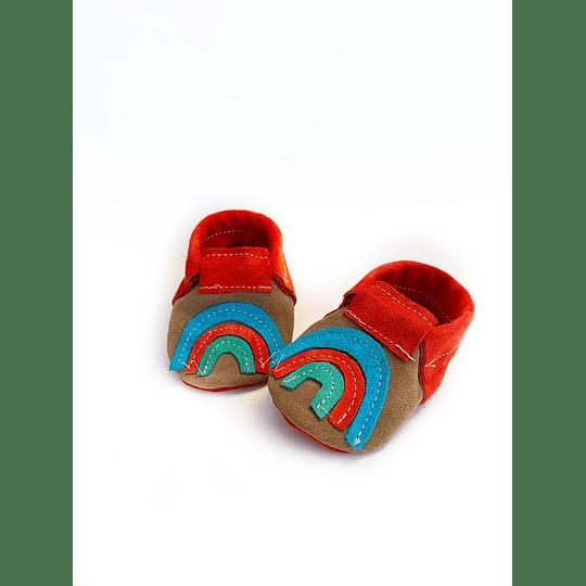 Moccs Arcoiris tonos rojos Diseño-Exclusivo