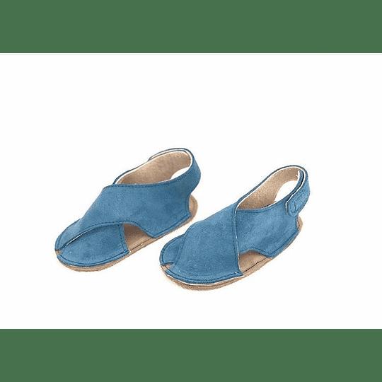 Sandalia Azul Miami con planta antiderrapante A PEDIDO.