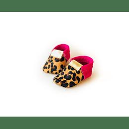 Moccs Jaguar fucsia Sin flecos